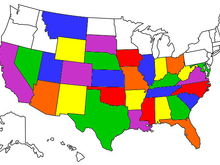 States Traveled by Motorcycle
