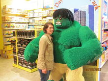 Me and Hulk! Had no clue I was pregnant here :)