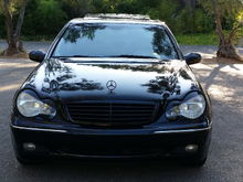 2004 C320 CHEAP HEADLIGHTS MOD