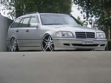 My old C200 Wagon on 20inch Dub wheels
