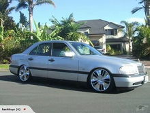 My Old W202 Lowered On 18inch Brazzen Wheels