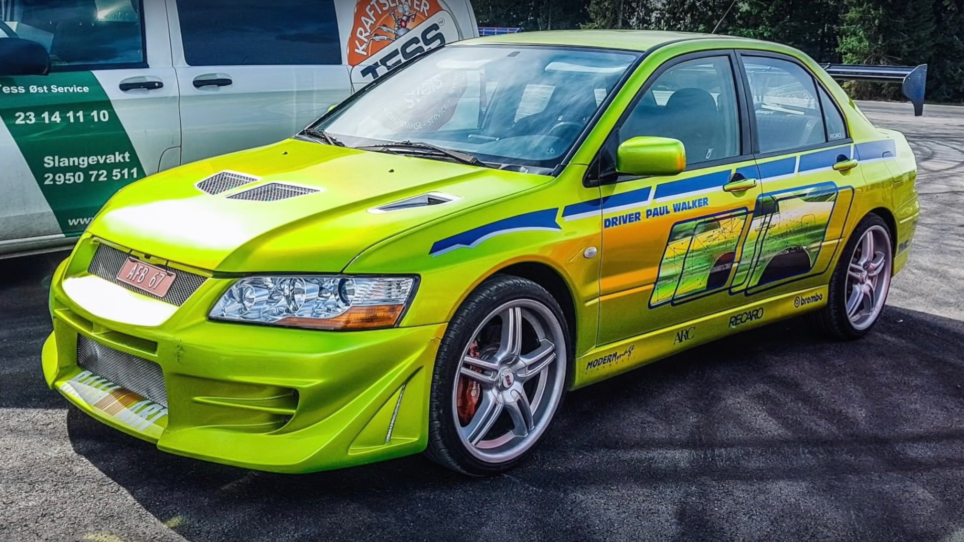 "三菱 Evo Vii from ""2 Fast 2 Furious""就像2019年出现的那样"