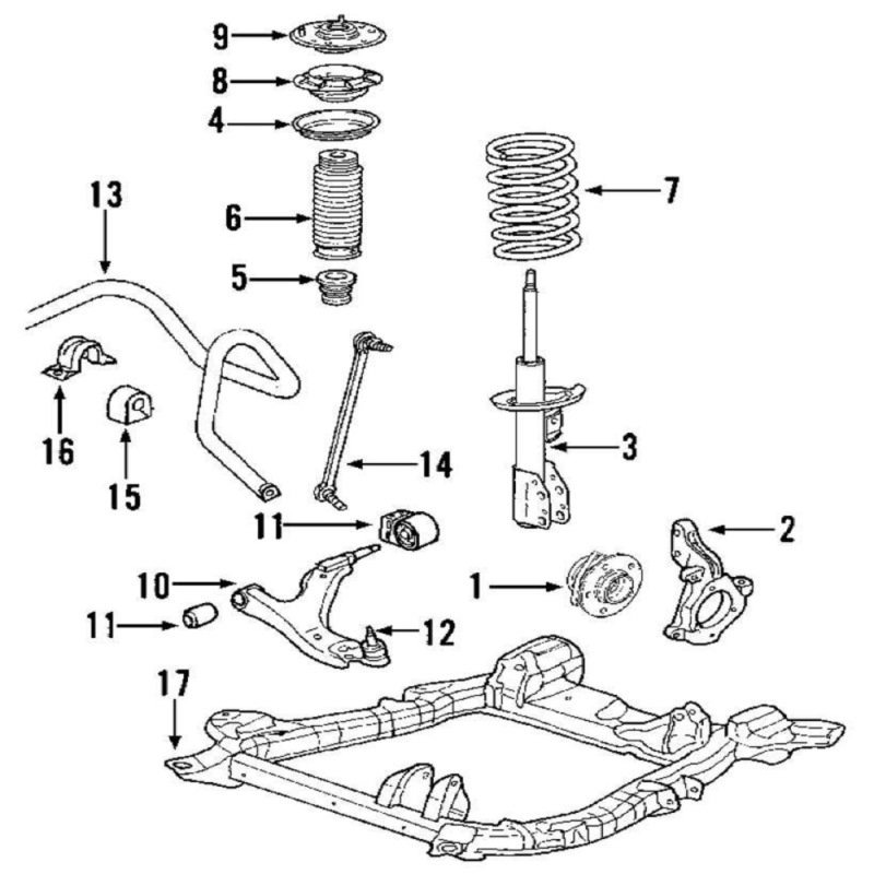 2012 honda cr v suspension diagram
