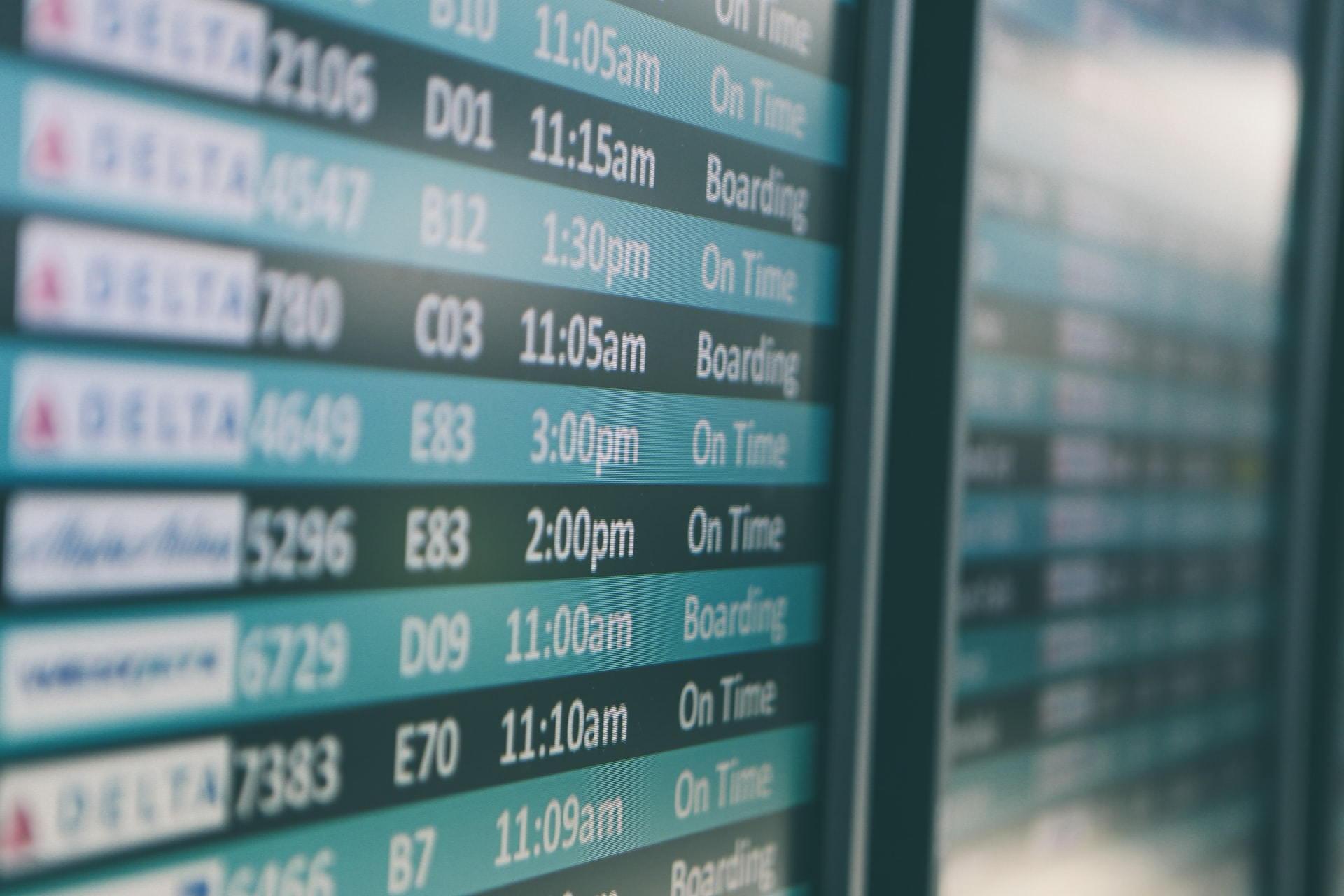 airline schedule