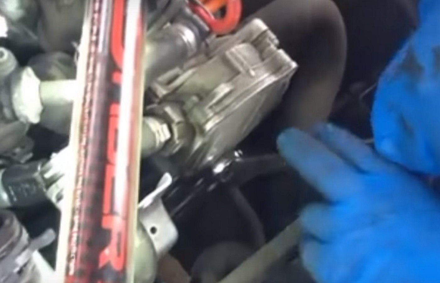Audi Q5 And Q7 How To Replace Thermostat Water Pump Audiworld 2009 A4 2 0t Engine Diagram 30 Supercharged V6 Serpentine Belt Drive Diy Figure