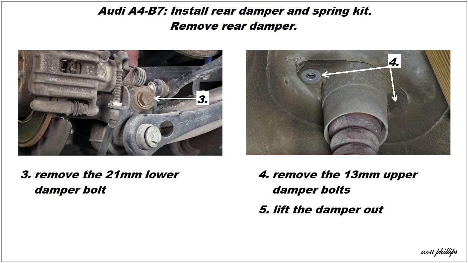 audi a4 b7 shock reviews and how to install shock absorber audiworld rh audiworld com 2000 Audi A4 1999 Audi A4 Quattro