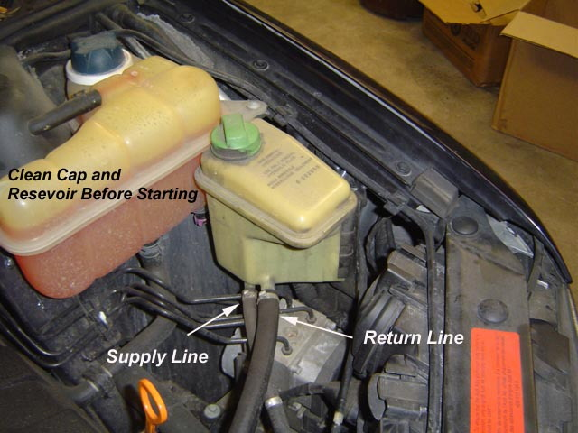 Audi A6 C5 And A6 C6 How To Change Power Steering Fluid
