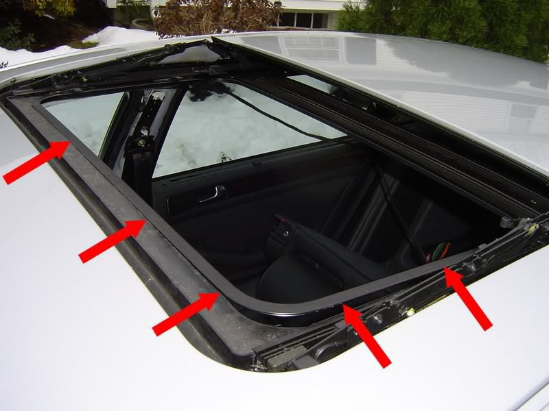 Removing sunroof shade
