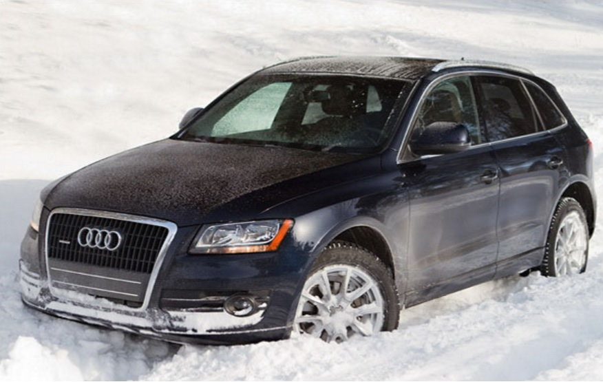 Here's an Audi Q5 used in a winter road test