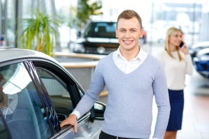 trading in a car at a dealership