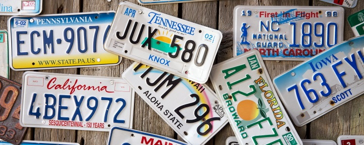 vehicle license plates