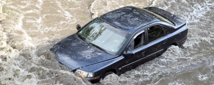flood-damaged vehicle