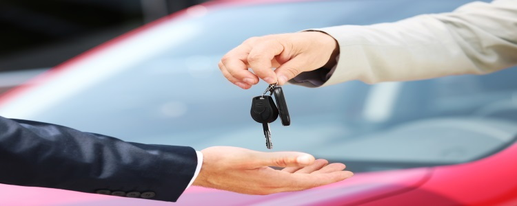 buying a car, car keys