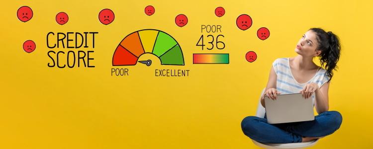 la diferencia entre mal crédito y sin crédito
