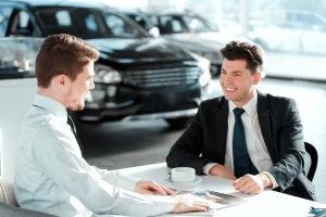 dealership sales desk