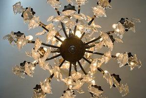 Victorian glass chandelier.