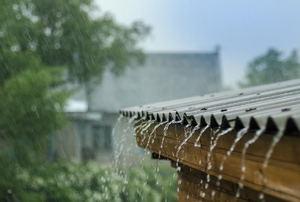Rain hitting a tin roof