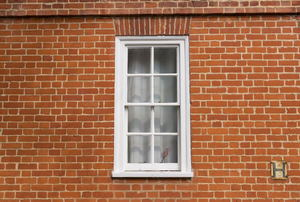 A sash window.