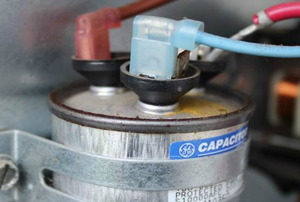 A bulging, burnt out capacitor.