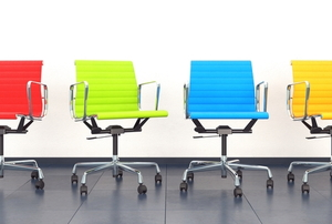 Office swivel chairs.