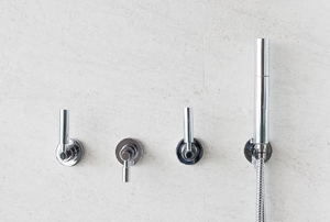 three-handled shower faucet