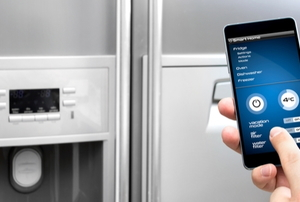 refrigerator with smart phone