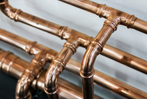 Copper pipes.