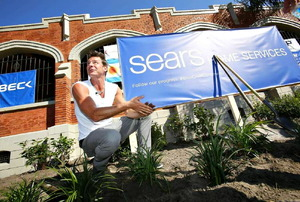 """Ty Pennington at the Sears """"Building Community Together"""" initiative."""
