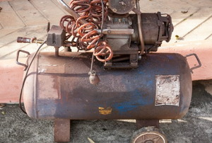 An old air compressor