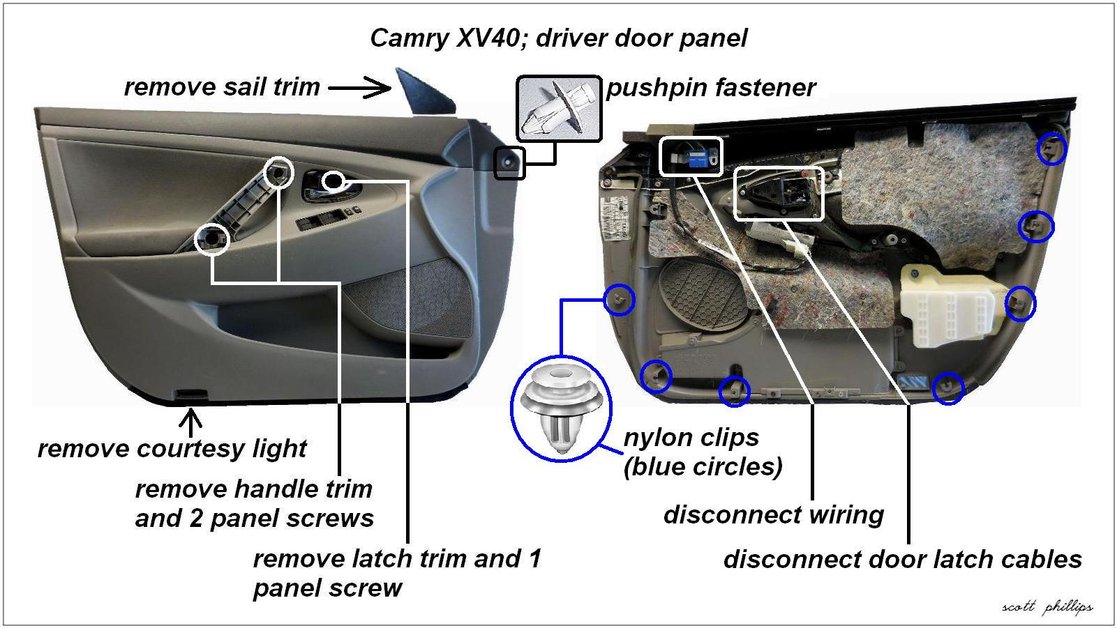 1 CamryXV40DriverDoorPanel 87318 toyota camry 2007 2011 how to replace power window actuator Chevy Wiring Harness for 1999 Sierra Door at aneh.co