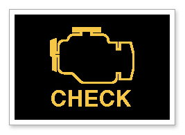 The Check Engine Light Is Usually Near The Speedometer.