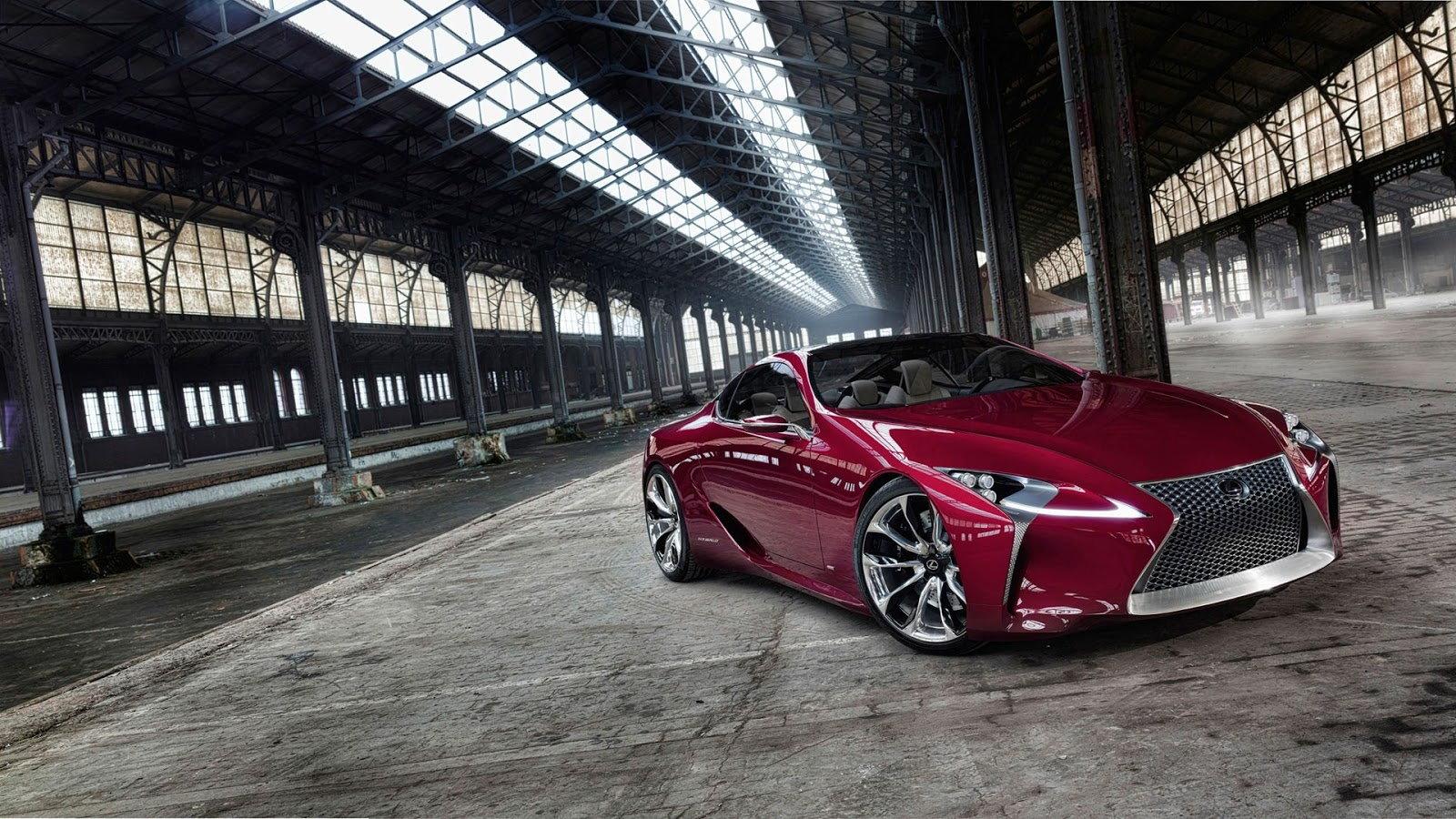Red Lexus LF LC