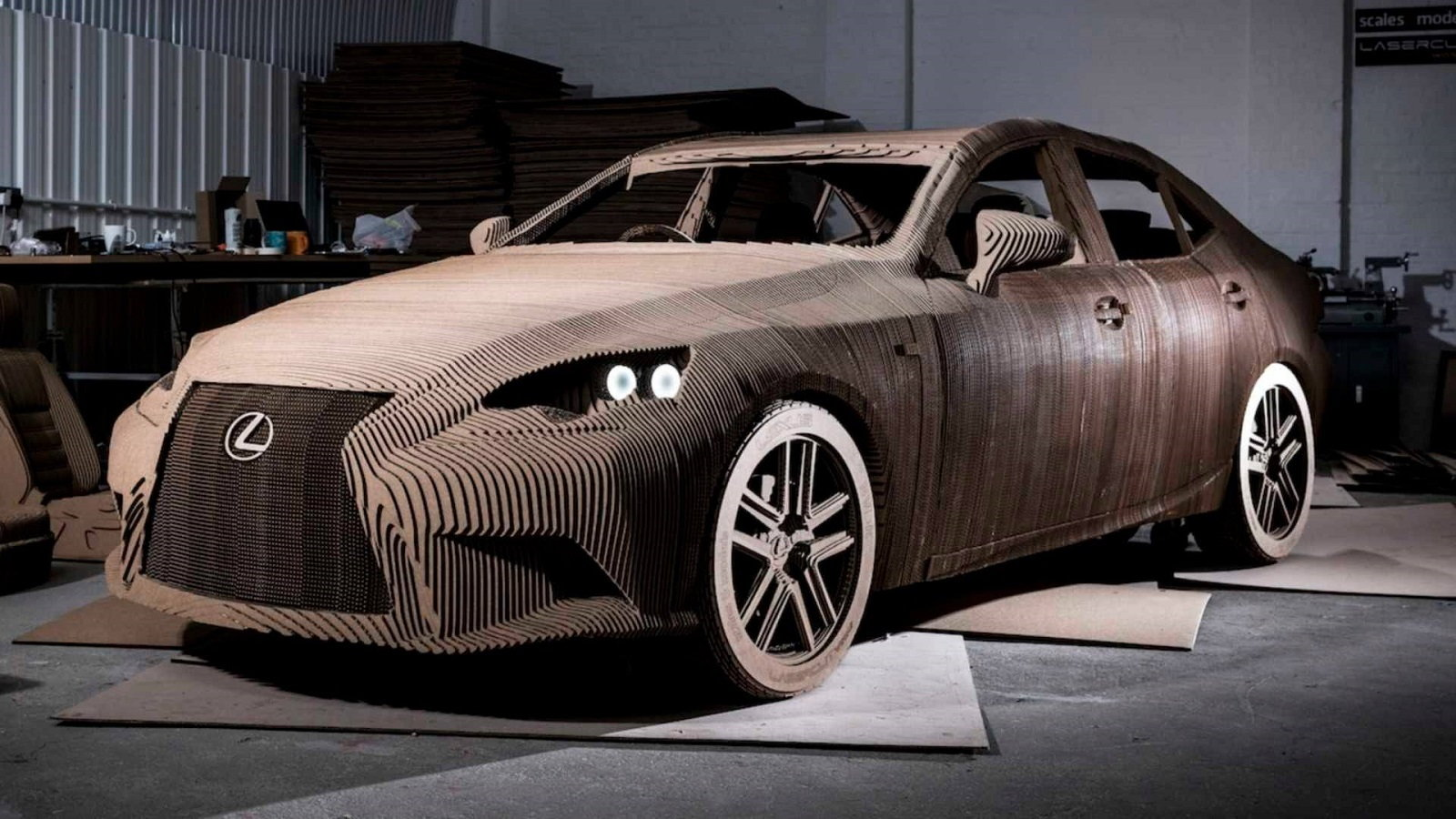 Lexus Builds a Driveable Cardboard Car (Photos) - Clublexus
