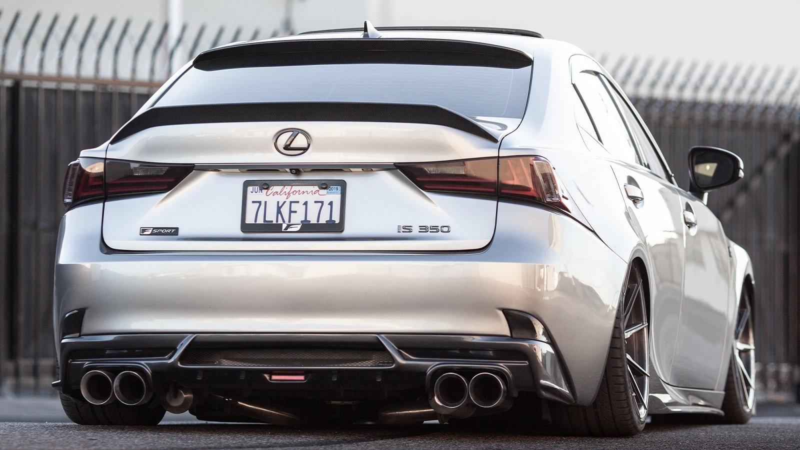 Slammed Lexus IS F Sport Is a Real Show Stopper