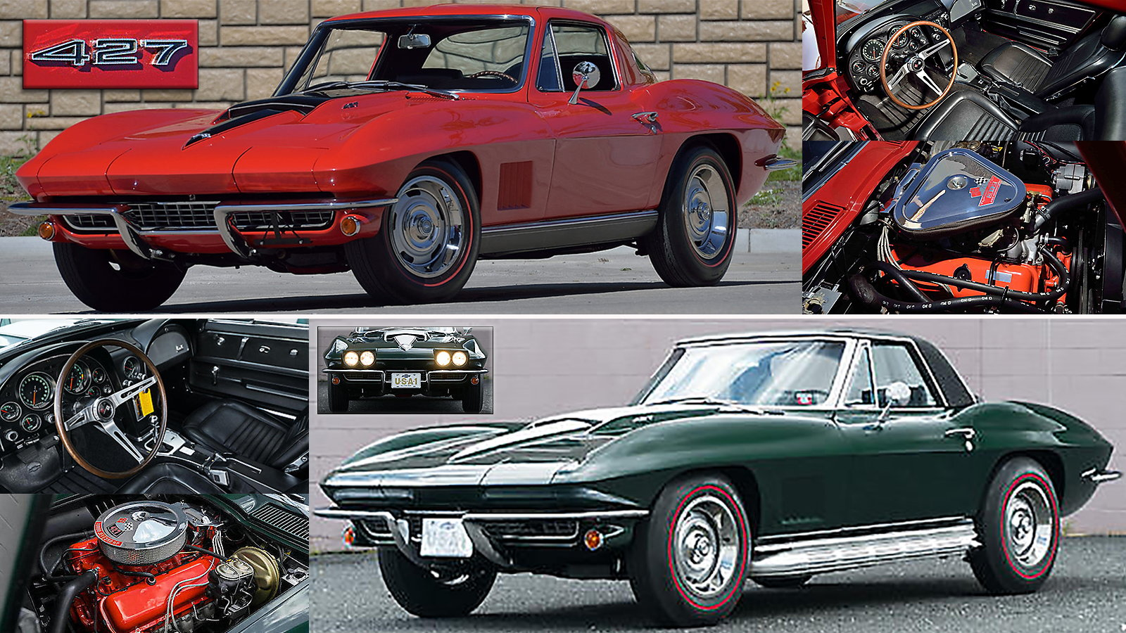 Mecum Auctions Lot S67, and Bonhams Auctions Lot 506, Monterey 2017 sales