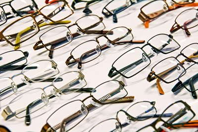 Image of glasses on a table.