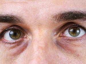 close up of green eyes