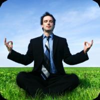 image of man meditating.