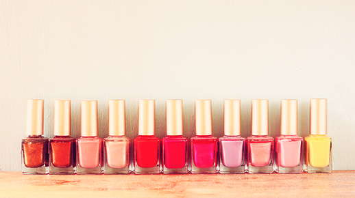 Image of different nail polish colors.
