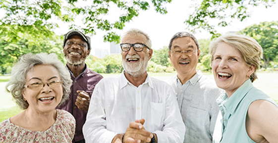 Image of a group of older people wearing glasses.