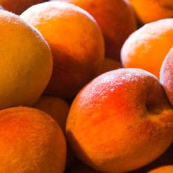 red rareripe peaches