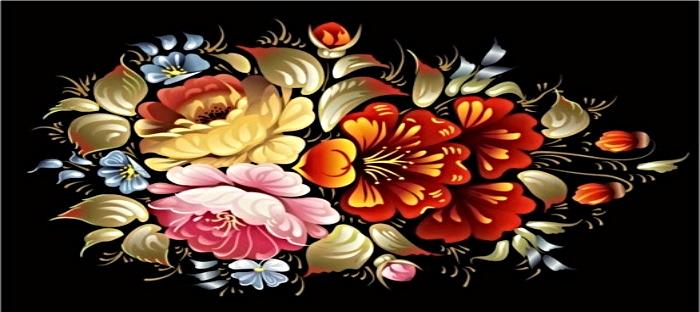 Beautiful Russian floral art
