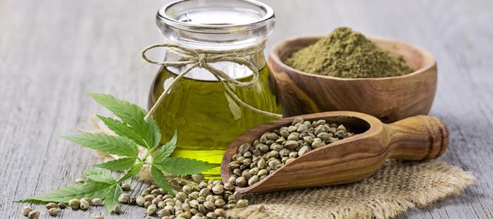 CBD oil, powders, hemp seeds, hemp fiber, cannabis leaf