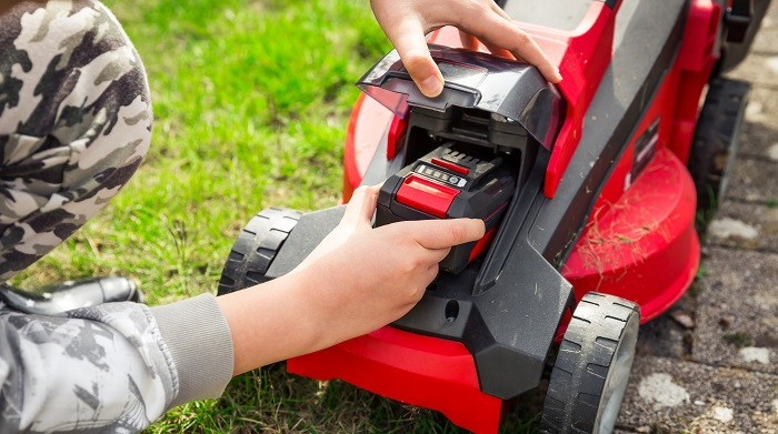 battery mower