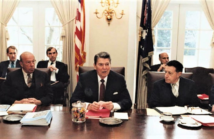 president Reagan with his jelly beans