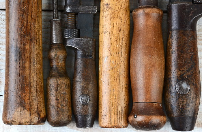 use linseed or flaxseed oil to keep your wooden tool handles looking brand new