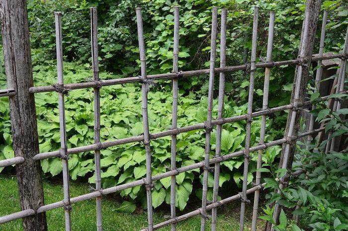 low fencing in the garden
