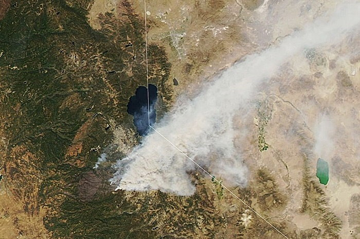 wildfire image from space
