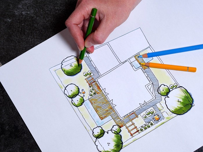 drawing a garden plot