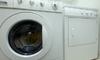 washing machine and dryer indoors